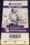2015 NCAAF South Dakota at Kansas State ticket stub