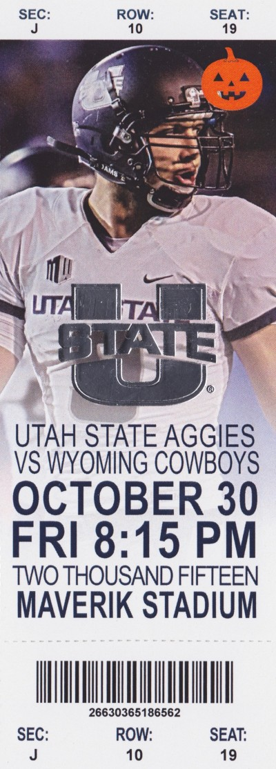 2015 NCAAF Wyoming at Utah State ticket stub