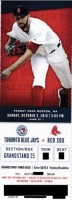 2016 MLB Blue Jays at Red Sox ticket stub
