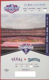 2016 MLB Mariners at Rangers ticket stub