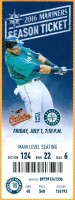2016 MLB Orioles at Mariners ticket stub