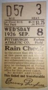 1926 MLB Reds at Pirates ticket stub