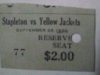 1930 NFL Staten Island Stapletons vs Frankford Yellowjackets ticket stub