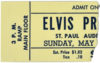 1956 Elvis Presley St Paul Minnesota Concert Ticket Stub