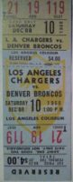 1960 AFC Broncos at Chargers full ticket
