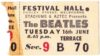 1964 The Beatles Melbourne ticket stub