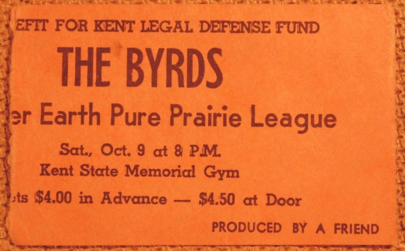 1971 The Byrds and Pure Prairie League ticket stub