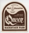 1976 Queen Backstage pass San Diego
