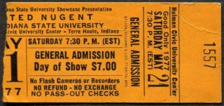 1977-ted-nugent-indiana-state-university-ticket-stub
