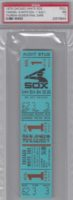 1979 MLB Yankees at White Sox ticket Thurman Munson final game