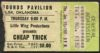 1981 Cheap Trick Tulsa ticket stub