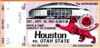 1981 NCAAF Utah State at Houston ticket stub