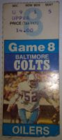 1983 NFL Oilers at Colts ticket stub