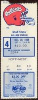 1984 NCAAF Utah State at Fresno State ticket stub