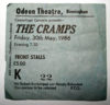 1986 The Cramps Live at the Birmingham Odeon ticket stub