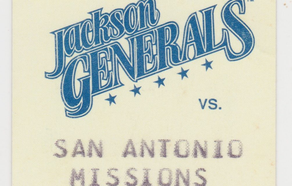 1993 Jackson Generals ticket stub vs Missions for sale