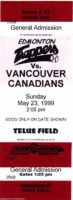 1999 MiLB PCL Vancouver Canadians at Edmonton Trappers ticket stub