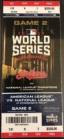 2016 World Series Game 2 Cubs at Indians ticket stub