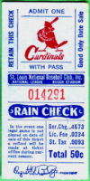 St. Louis Cardinals ticket stub