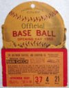 1950 Baltimore Orioles Opening Day ticket stub