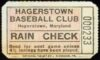 1950s Piedmont League Hagerstown Braves ticket stub