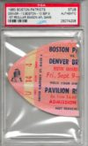 1960 AFL Broncos at Patriots ticket stub