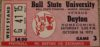 1972 NCAAF Dayton at Ball state ticket stub