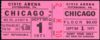 1971 Chicago Live in Pittsburgh ticket stub