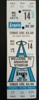 1974 MLB Red Sox at Angels ticket stub