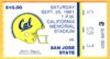 1981 NCAAF San Jose State at California ticket stub