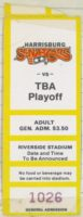 1987 MiLB Eastern League Vermont Reds at Harrisburg Senators Playoff ticket stub