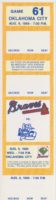 1989 MiLB International League Oklahoma City 89ers at Richmond Braves ticket stub