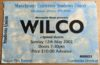 2002 Wilco in Manchester England ticket stub