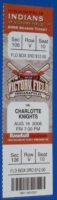 2006 MiLB International League Charlotte Knights at Indianapolis Indians ticket stub