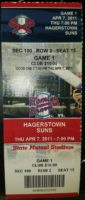 2011 MiLB Hagerstown Suns at Rome Braves ticket stub