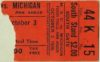 1925 NCAAF Michigan State at Michigan ticket stub