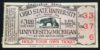 1927 NCAAF Ohio State at Michigan ticket stub