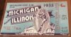 1933 NCAAF Michigan at Illinois ticket stub