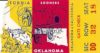 1954 NCAAF Oklahoma st California ticket stub