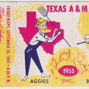 1955 NCAAF UCLA ticket stub vs Texas A and M for sale