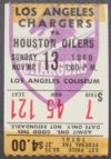 1960 AFL Houston Oilers at Los Angeles Chargers ticket stub