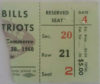 1960 AFL Patriots at Bills ticket stub 1st ever AFL game