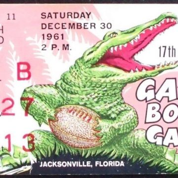 1961 Gator Bowl Georgia Tech vs Penn State ticket stub