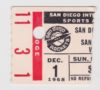 1968 NBA San Francisco Warriors at San Diego Rockets ticket stub