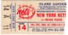 1969 ABA Pacers at Nets ticket stub