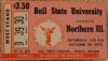 1970 NCAAF Northern Illinois at Ball state ticket stub