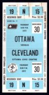 1972 WHA Cleveland Crusaders at Ottawa Nationals ticket stub