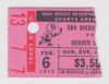 1972 WHL San Diego Gulls ticket stub vs Denver