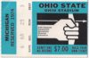 1974 NCAAF Michigan at Ohio State ticket stub