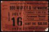 1978 Bob Marley and the Wailers Paramount Ticket Stub
